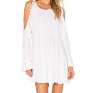 Free People Cold Shoulder Tunic Top SZ M White